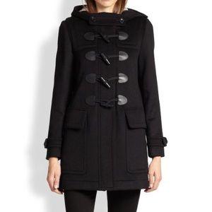 Burberry Brit black toggle wool coat